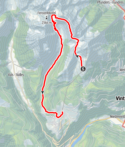 Map / Mountain Gitschberg - Altfass Valley