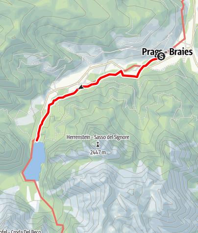 """Cartina / Sentiero tematico: """"Viktor Wolf Edler von Glanvell"""""""