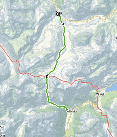 Kaart / Bivio - Septimerpass - Casaccia