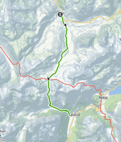 Map / Bivio - Septimerpass - Casaccia