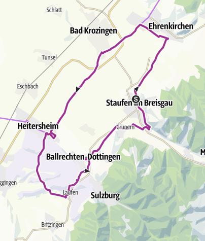 Karte / Genussrunde Staufen