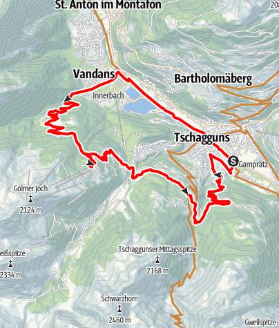 Karte / Maisäss Tour Matschwitz