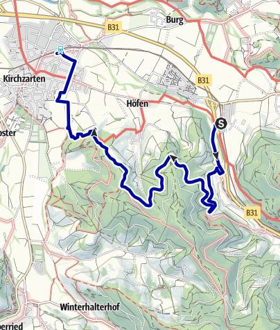 Karte / Von Himmelreich über Sonneck und Giersbergkapelle nach Kirchzarten