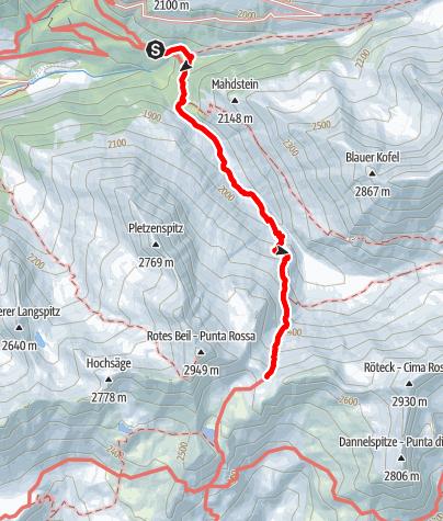 Mapa / Zur Gliederscharte