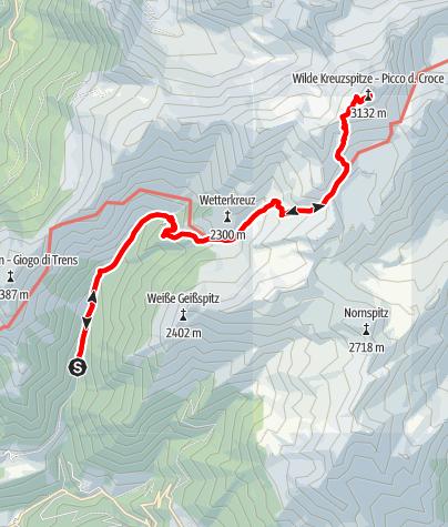 Mapa / Von Niederflans zur Wilden Kreuzspitze