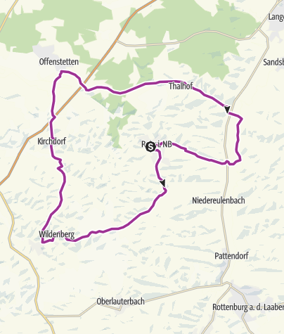 Map / Time Out Bicycle Experience: Bavarian Baroque Tour