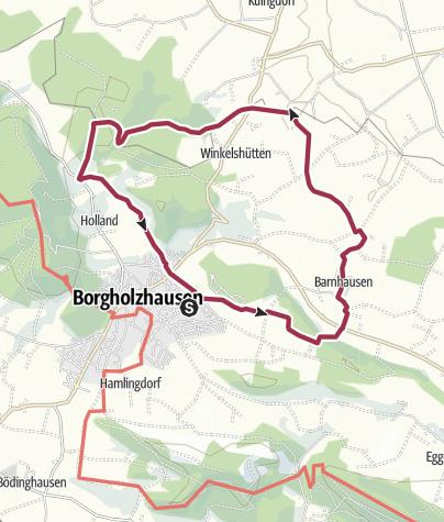 Karte / Erlebnis.Kreis.GT - Rundwanderung in Borgholzhausen - Schloss Brincke - Brincker Mühle
