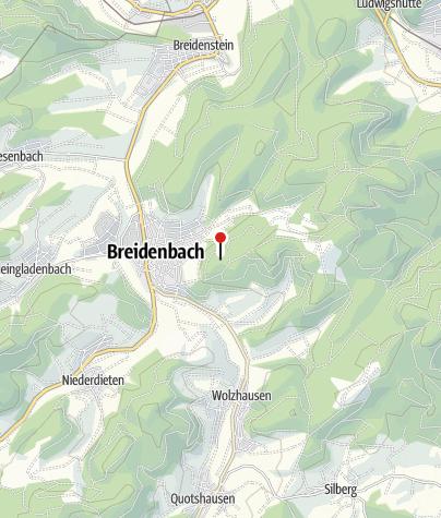 Map / Der Jubiläumsaussichtsturm Breidenbach