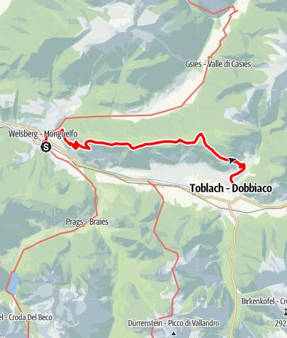 Mapa / Wanderung auf dem Römerweg
