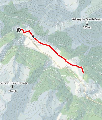 Karte / Rundwanderung im Ridnauntal