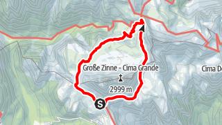 Mappa / Circuito estivo: Tre Cime di Lavaredo
