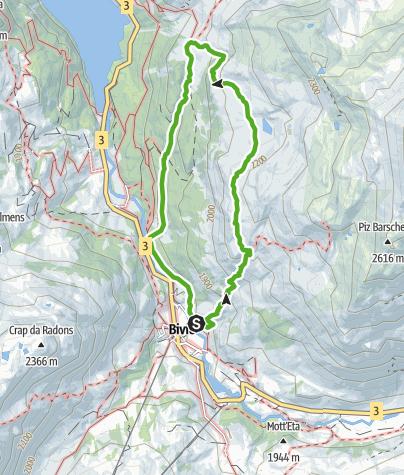 Map / Bivio - Alp Natons - Bivio