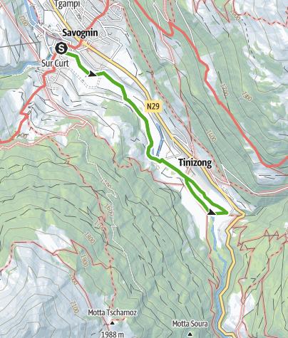 Karte / Savognin - Tinizong - Savognin
