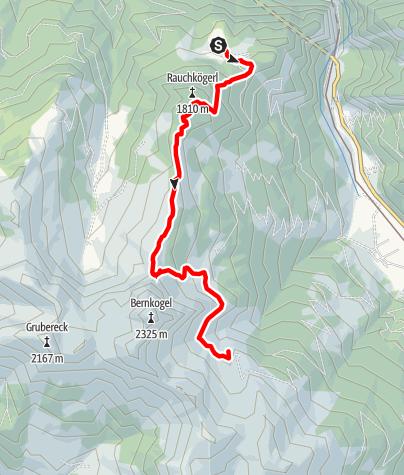 Karte / Salzburger Almenweg - Etappe 07