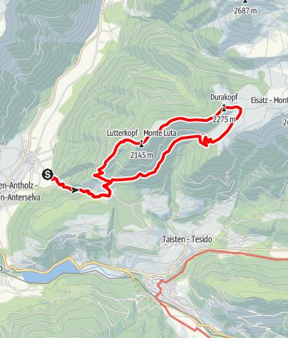 Mappa / Escursione: Monte Luta - Monte Dura