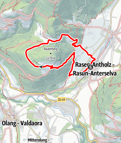 Map / Hiking to the Rauter Farms (Redensberg)