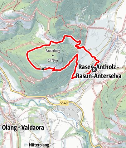 Kaart / Wanderung zu den Rauterhöfen (Redensberg)