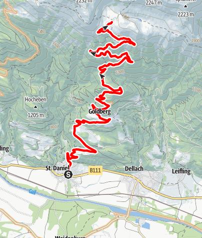 Karte / D1 - Jaukenalm