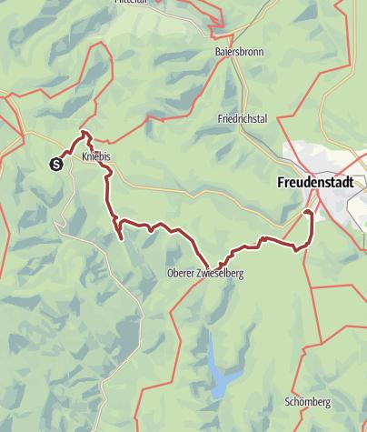 Karte / Auf der Fährte des Rothirsches - 6. Etappe Kniebis-Freudenstadt