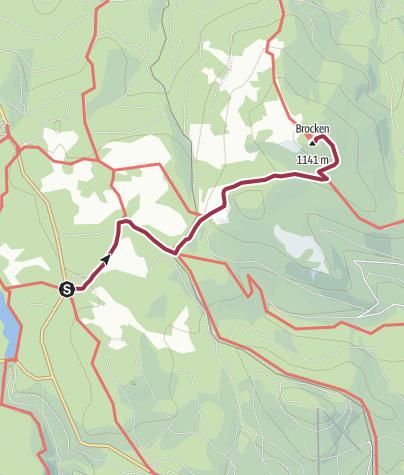 Karte / Wege zum Brocken - ab Oderbrück