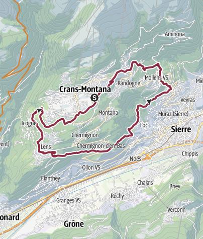 Karte / Villages Bike