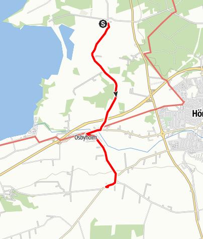 Karta / Sankta Magnhilds väg, Fulltofta kyrka till Sankta Annas kyrka i Lyby