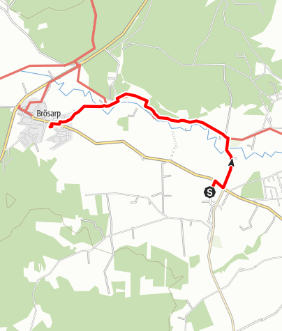 Karta / Paradisvägen, Ravlunda kyrka till Brösarps kyrka