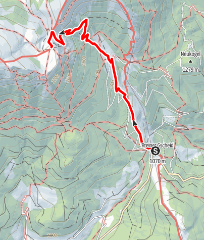 Mapa / Wanderung über den Schlangenweg zum Karl Ludwig Haus