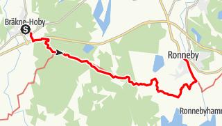 Map / Eginoleden, Bräkne Hobys kyrka till Ronnebys kyrka
