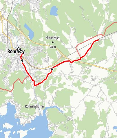Map / Eginoleden, Ronnebys kyrka till Edestads kyrka