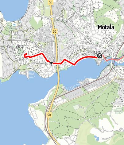 Karta / Birgittaleden, Motala kyrka till Råssnäs kyrka