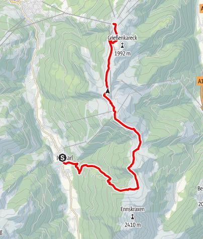 Karte / Salzburger Almenweg - Etappe 19