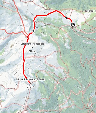 Карта / Saltnerstein (Gasser Hütte) - Rittner Horn