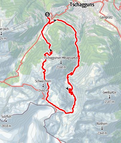 Map / Rund um die Tschaggunser Mittagsspitze