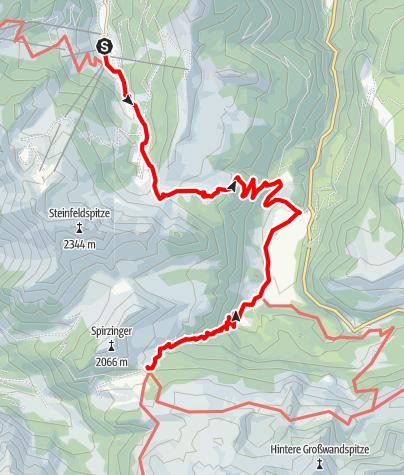 Karte / Salzburger Almenweg - Etappe 22