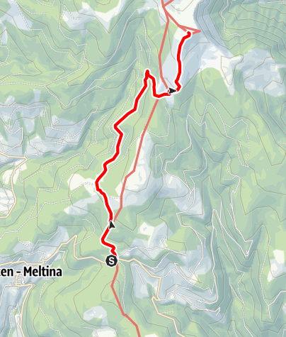 "Map / Hike to the ""Stoanernen Mandlen"""