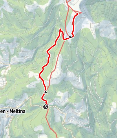Mapa / Wanderung zu den Stoanernen Mandlen