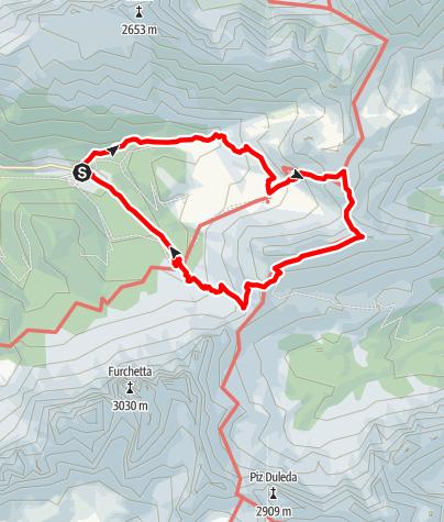 Mapa / Zans- Schlüter Hütte - Kreuzjoch