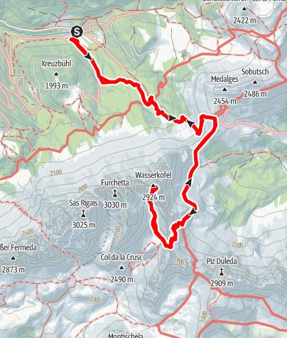 Mappa / Il Wasserkofel