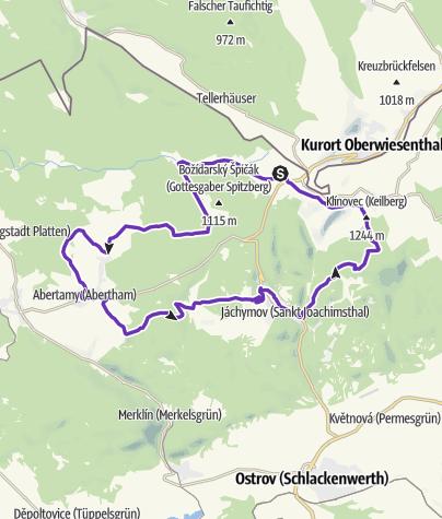 Mapa / Horská výzva Krušné hory 2016