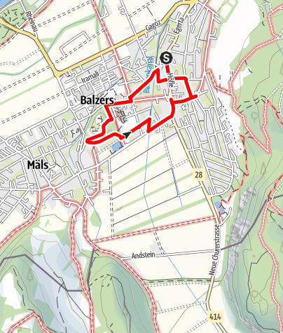 Karte / Expedition Palazoles Balzers
