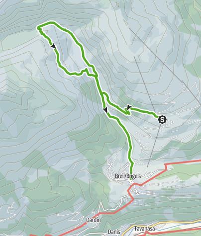 Karte / 678 Hochtal Val Frisal