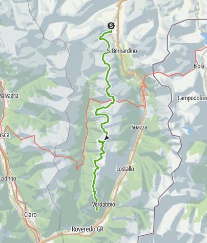 Cartina / 712 Sentiero Alpino Calanca (3 Etappen)