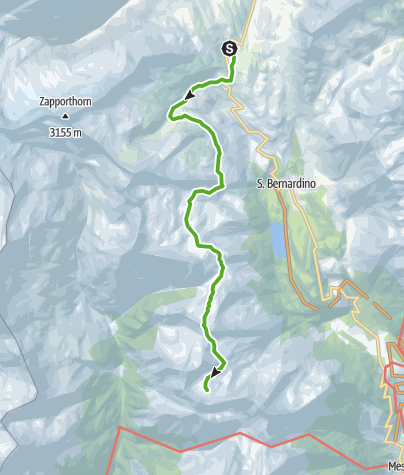 Karte / 712.01 Sentiero Alpino Calanca, Etappe 1