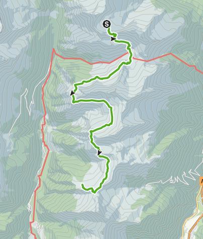 Cartina / 712.02 Sentiero Alpino Calanca, Etappe 2