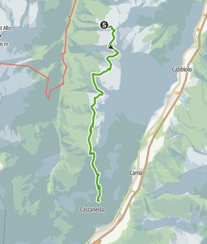 Karte / 712.03 Sentiero Alpino Calanca, Etappe 3