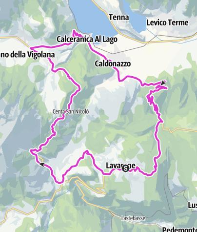 Cartina / Lavarone - Carbonare - Calceranica - Caldonazzo - Monterovere - Gionghi