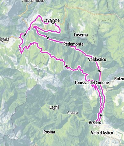 Cartina / Lavarone - Forte Cherle - Tonezza - Arsiero