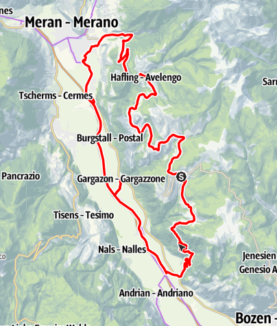 Cartina / Meltina - Verano - Avelengo - Merano - Terlano