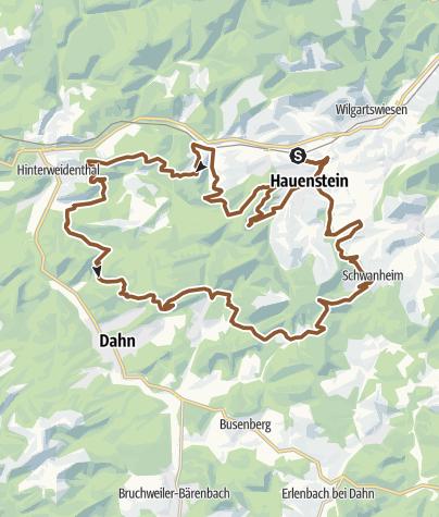 Karte / Hauenstein Tour 12 (Hauenstein-West)